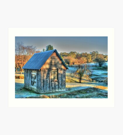 The Little House & the Frost .. HDR Art Print