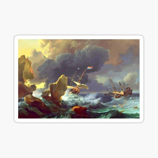 The Sea Takes Back Sticker