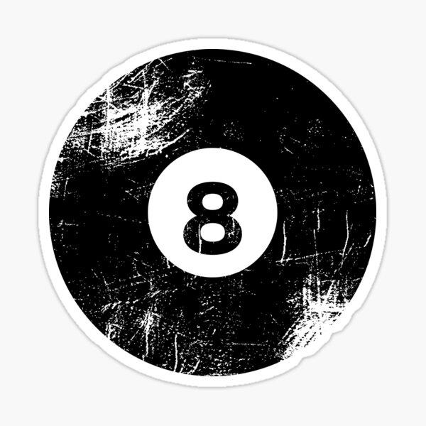 Billiard Solid Black Ball Number 8  Sticker