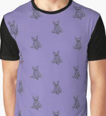 Purple Frenchie Graphic T-Shirt
