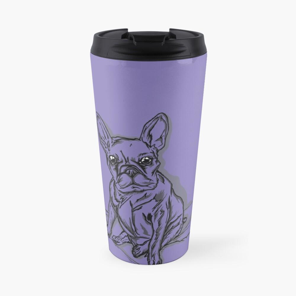 Purple Frenchie Travel Mug