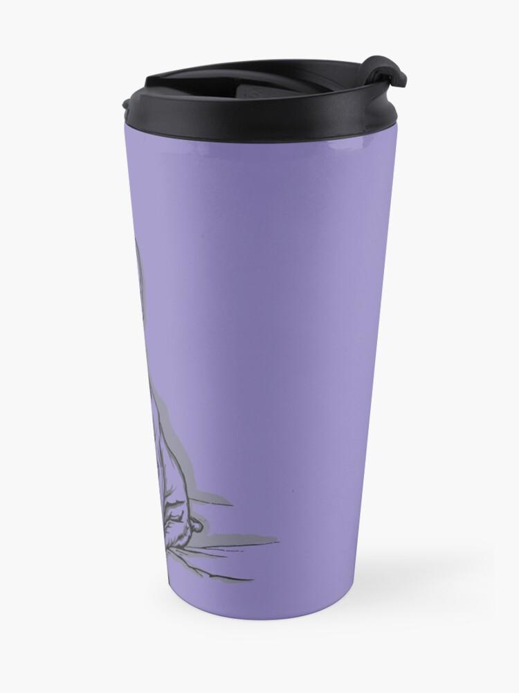 Alternate view of Purple Frenchie Travel Mug