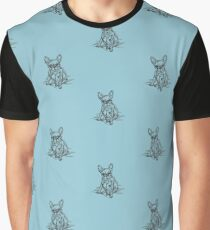 Teal Frenchie Graphic T-Shirt