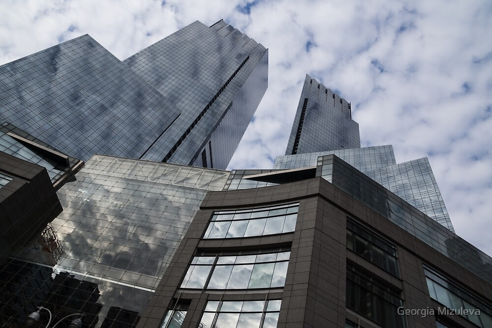 New York Sky and Skyscrapers by Georgia Mizuleva