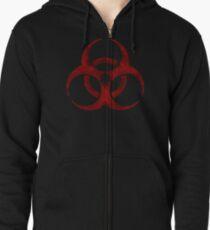 Biohazard symbol Zipped Hoodie