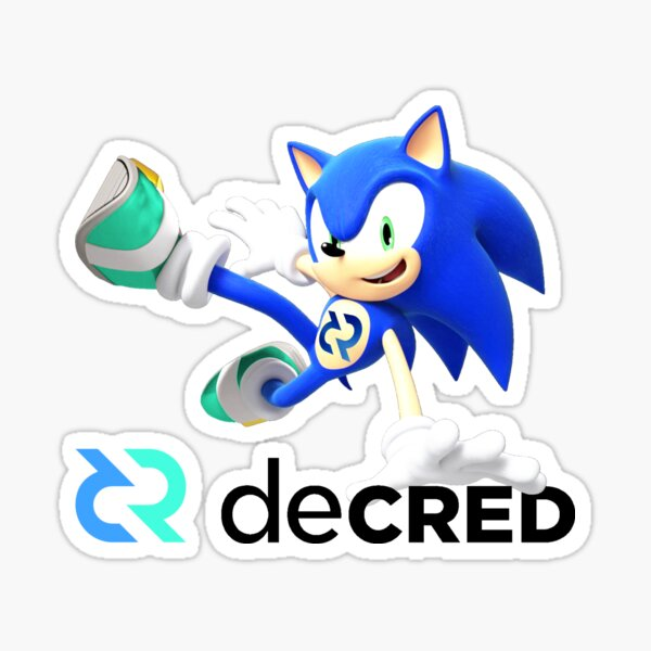 Decred the hedgehog ™ v2 'Design timestamped by https://timestamp.decred.org/' Sticker