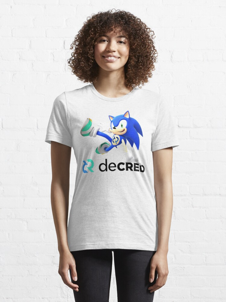Alternate view of Decred the hedgehog v2 Essential T-Shirt