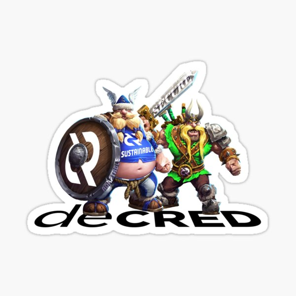 Decred Vikings v2 Sticker