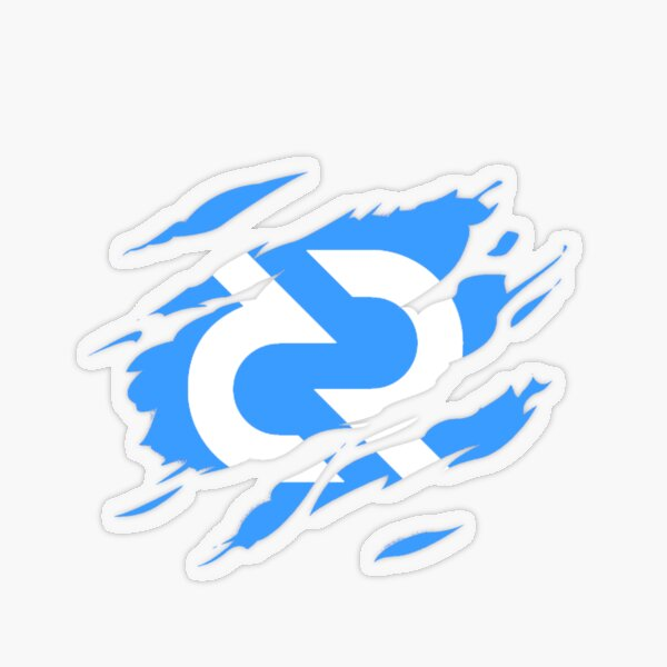 Decred ripped ™ 'Design timestamped by https://timestamp.decred.org/' Transparent Sticker