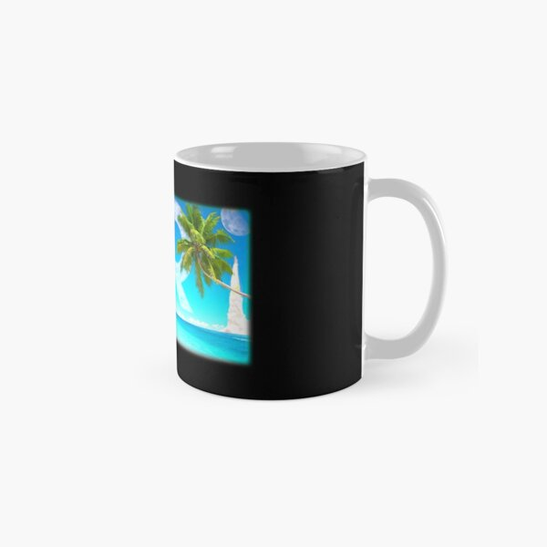 Decred Moon Mission Beach ™ 'Design timestamped by https://timestamp.decred.org/' Classic Mug