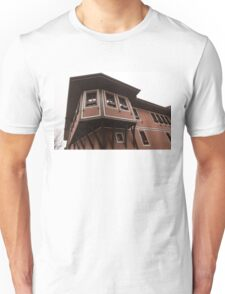 Asymmetrical Elegance - a Statement Oriel Window Unisex T-Shirt