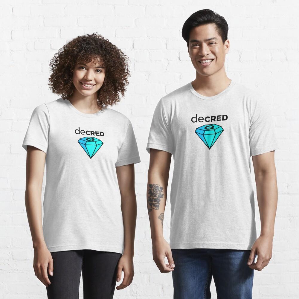 Decred gem ™ v2 'Design timestamped by https://timestamp.decred.org/' Essential T-Shirt