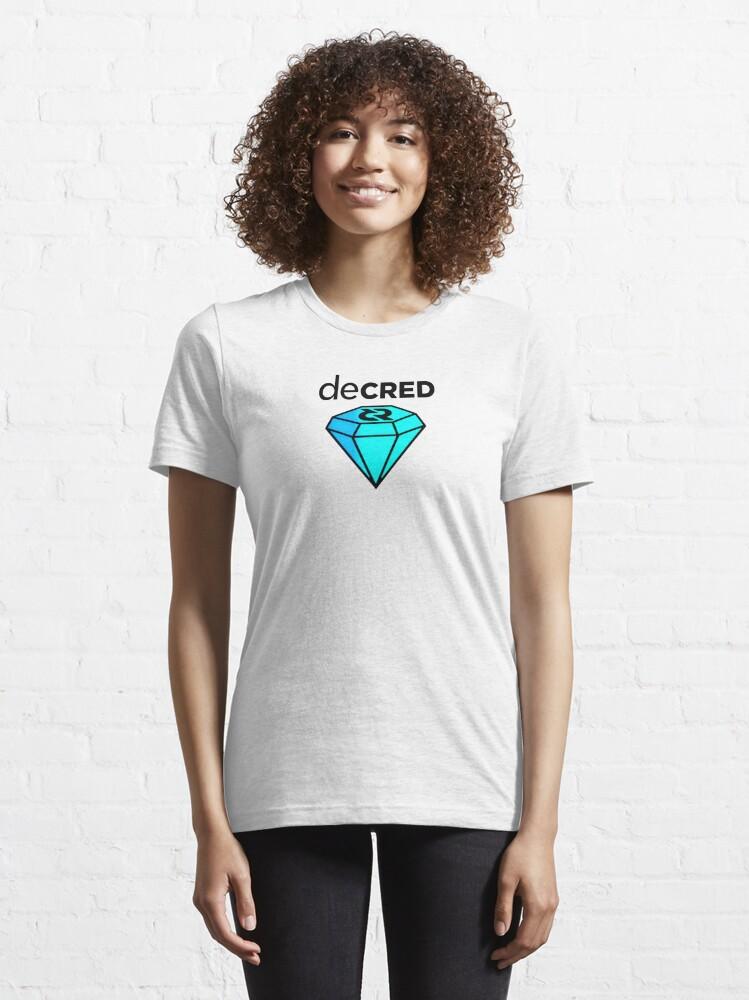 Alternate view of Decred gem v2 Essential T-Shirt