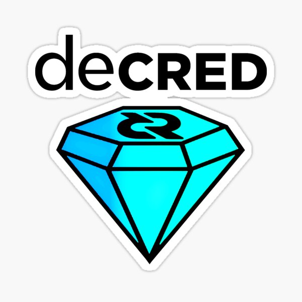 Decred gem v2 Sticker