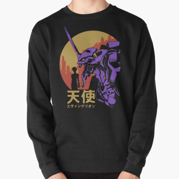 Neon Genesis Evangelion Rétro Vintage Sweatshirt épais