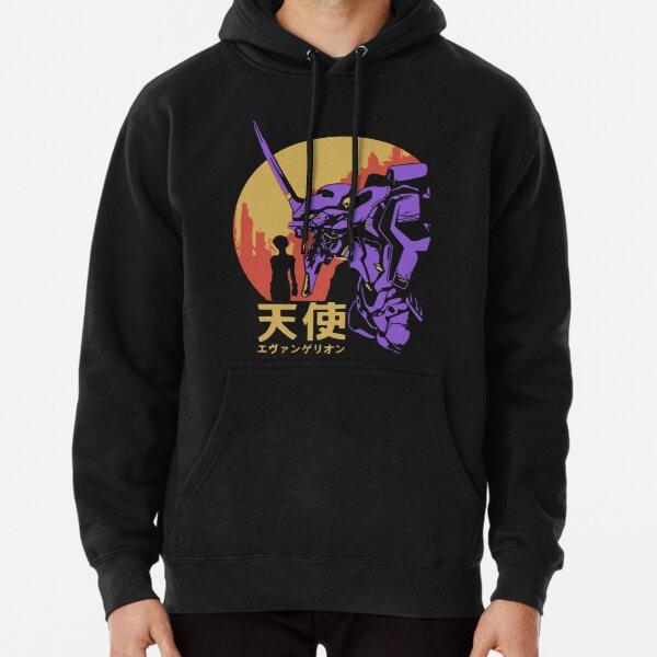 Neon Genesis Evangelion Retro Vintage Pullover Hoodie
