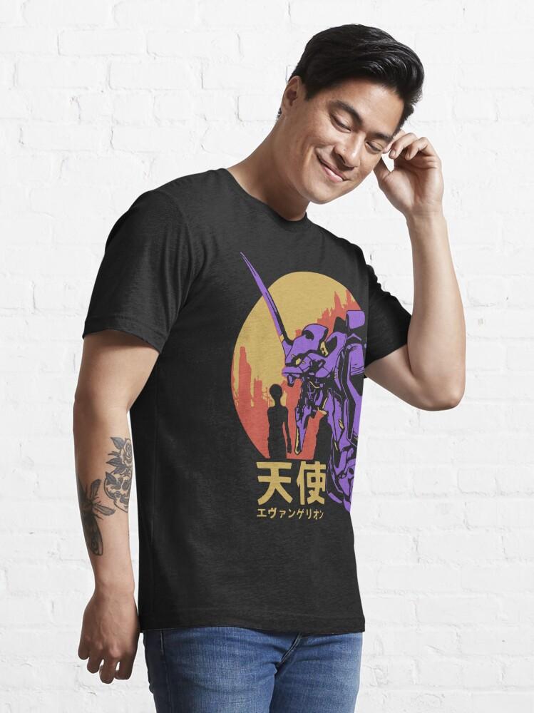 Alternate view of Neon Genesis Evangelion Retro Vintage Essential T-Shirt