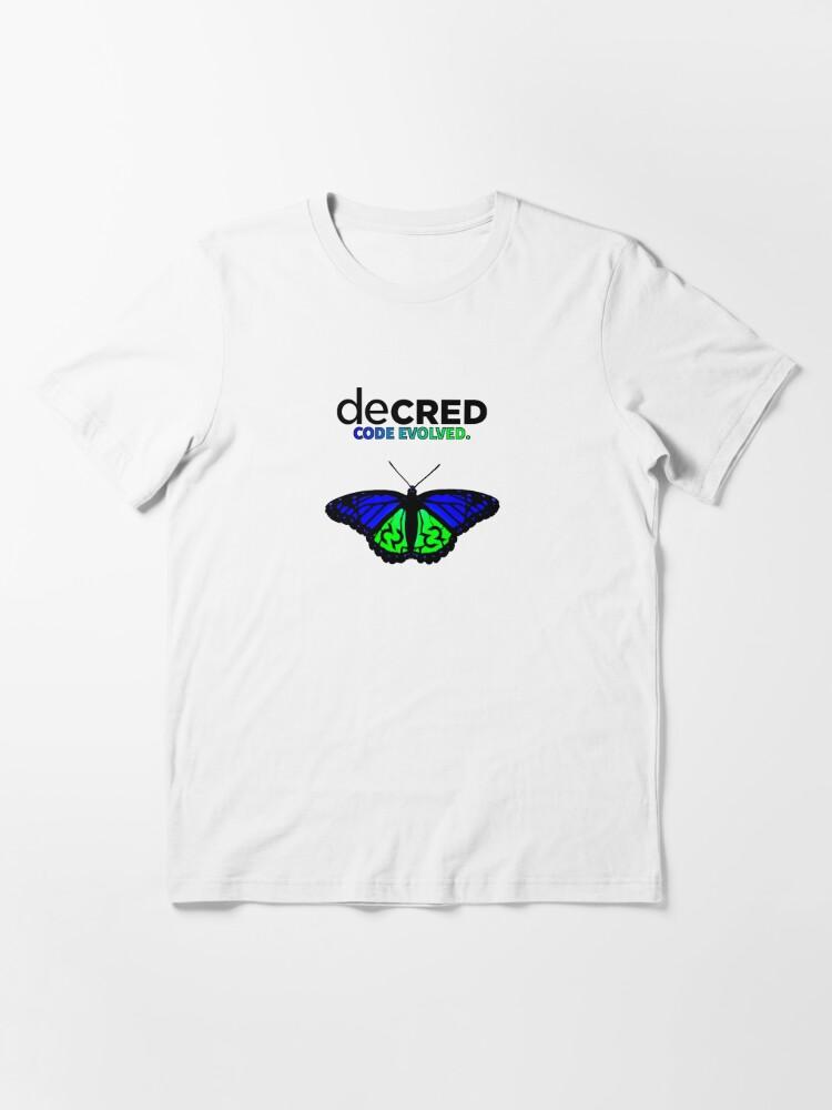 Alternate view of Decred evolved v2 Essential T-Shirt