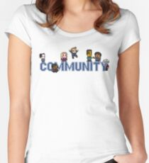 Community Logo with Characters Women's Fitted Scoop T-Shirt