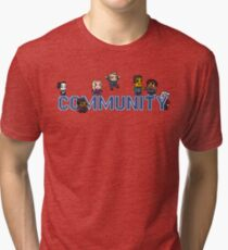 Community Logo with Characters Tri-blend T-Shirt
