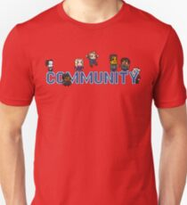 Community Logo with Characters T-Shirt