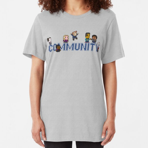 Community Logo with Characters Slim Fit T-Shirt