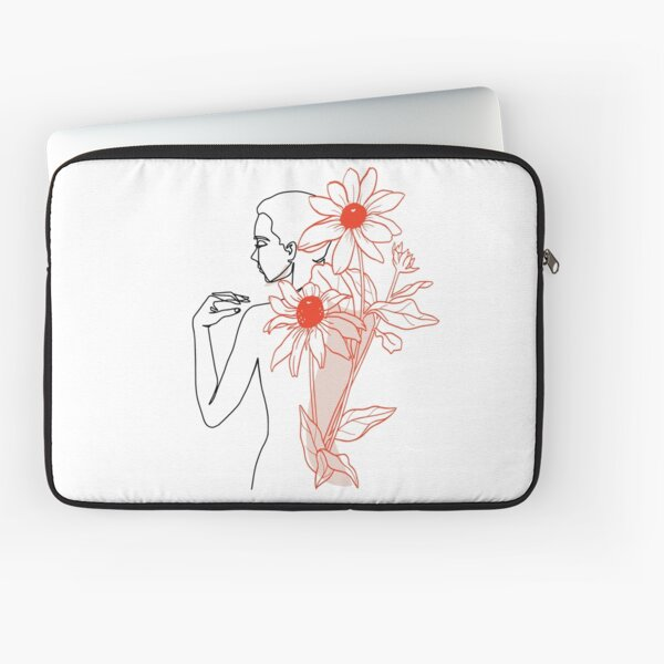 Feminine grace and Flowers Laptop Sleeve