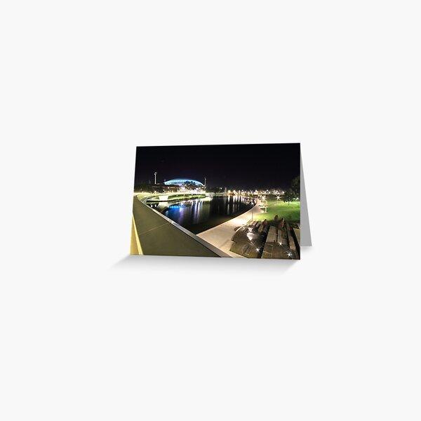 River Torrens, Riverbank Footbridge & Adelaide Oval Greeting Card