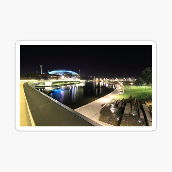 River Torrens, Riverbank Footbridge & Adelaide Oval Sticker