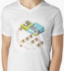 Energy Hydroelectric Power Isometric T-Shirt