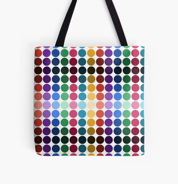 Rainbow Dots All Over Print Tote Bag