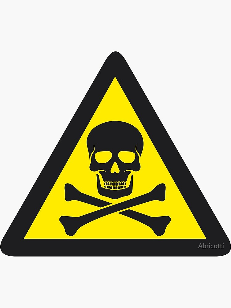 Nuclear Radiation Warning Symbol Sign 4 Pack Hazard Radioactive Bumper Window Sticker 4 Round Car Decal Rogue River Tactical