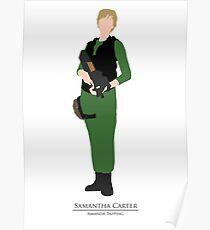 Stargate SG1 - Minimalist Carter Poster