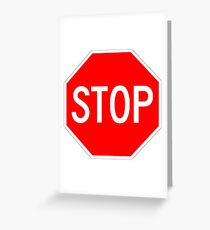STOP original sign sticker Greeting Card