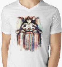 Shinji Evangelion Anime Tra Digital Painting  T-Shirt