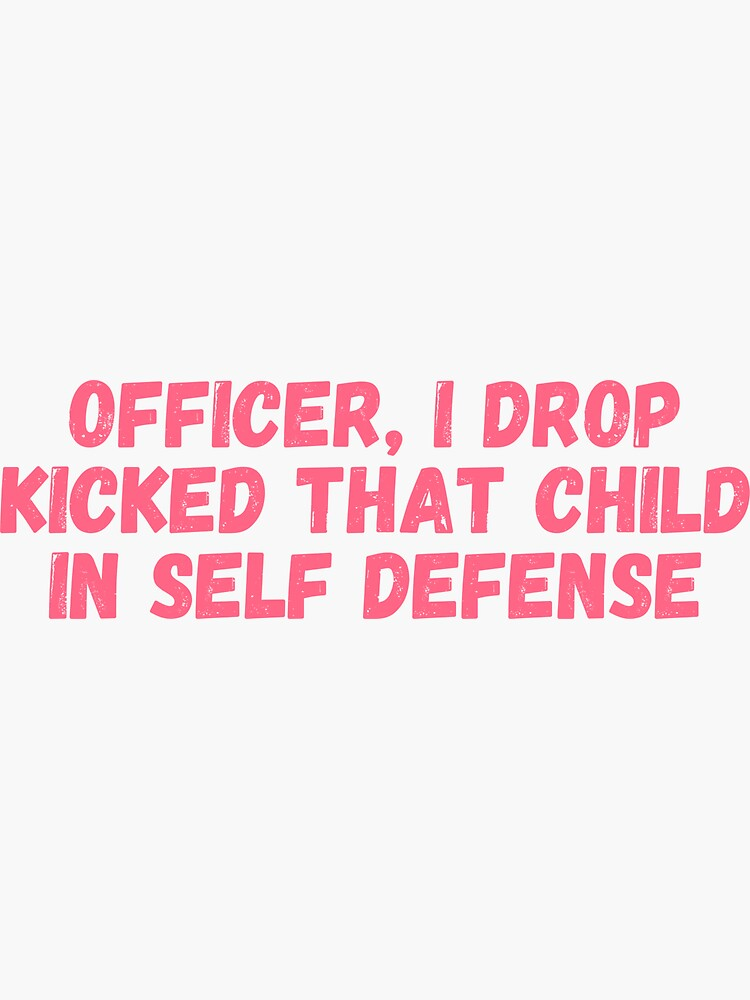 Officer I drop kicked that child In self defense, technoblade funny quote by ds-4