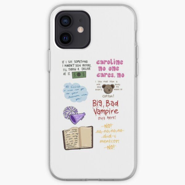 Damon quote sheet iPhone Soft Case