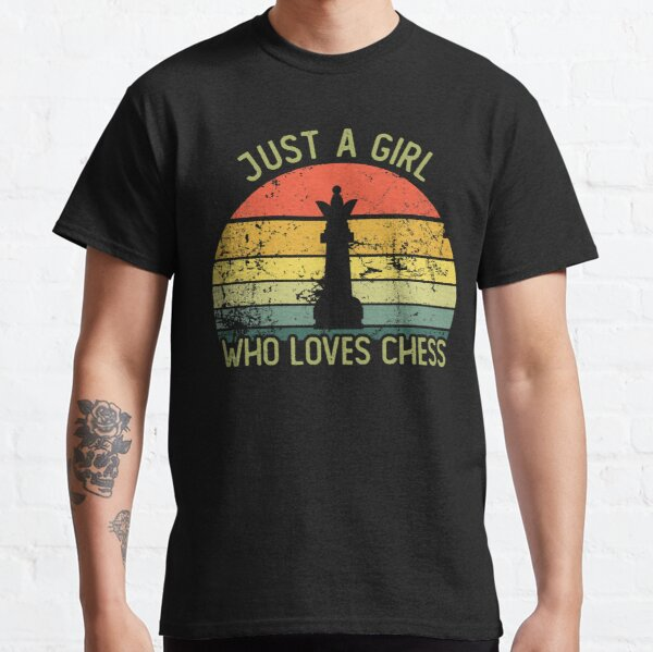 Vintage just a girl who loves chess Classic T-Shirt
