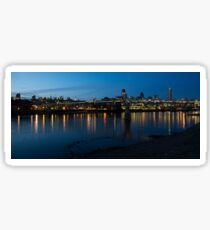 London Skyline Reflecting in the Thames River at Night Sticker