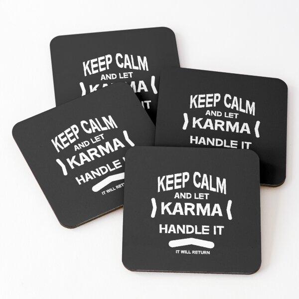 Funny Karma Inspiration - Keep Karma - Keep Calm - Karma Gifs - Karma Hope - Tshirts - Stickers Coasters (Set of 4)