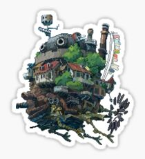 Howl's moving castle 8-bit <3 Sticker
