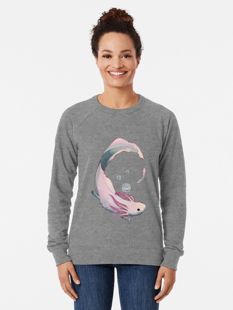 Alternate view of Axolotl growth Lightweight Sweatshirt