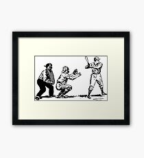 Baseball Game Framed Print