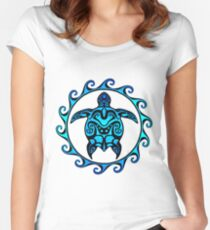 Tribal Turtle Women's Fitted Scoop T-Shirt
