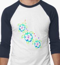 Tie Dyed Honu Turtles Men's Baseball ¾ T-Shirt