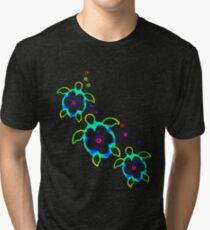 Tie Dyed Honu Turtles Tri-blend T-Shirt