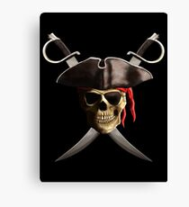 Pirate Skull Canvas Print
