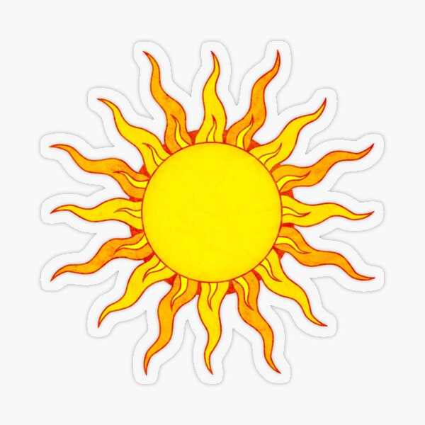 Grunge Sun Transparent Sticker