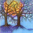 Oaks In Hibernation by Catherine  Howell