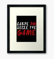 Carpe DM, Seize The Game - Dungeons & Dragons (White) Framed Print